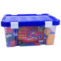Stavebnice Seva 3 Jumbo plast 1074 ks v plastové krabici
