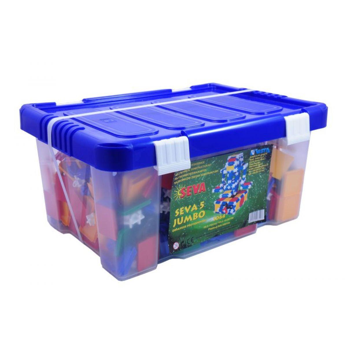 Seva Stavebnice 5 Jumbo 1064 dílků v plastové krabici