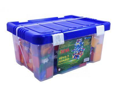 Stavebnice Seva 5 Jumbo plast 1064 ks v plastové krabici