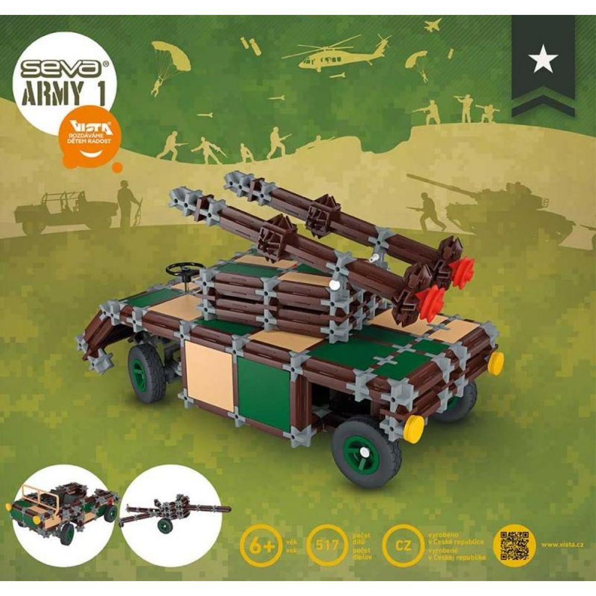 Vista Stavebnice Seva Army 1 plast 514 ks v krabici