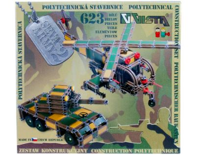 Vista Stavebnice Seva Army 2 plast 623 ks v krabici