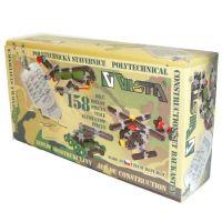VISTA 0301-44 - Stavebnice Seva Army mini plast 158ks v krabici 31,5x16,5x7,5cm