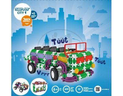 Vista 0301-50 - Stavebnice Seva City 1 plast 490ks v krabici 35x33,8x8cm