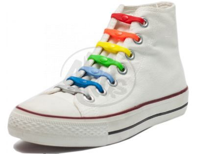 Shoeps Silikonové tkaničky Mix