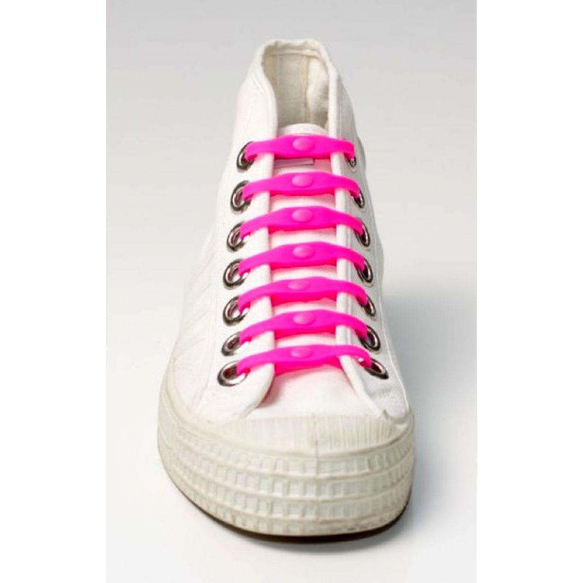 Shoeps Silikonové tkaničky Pink