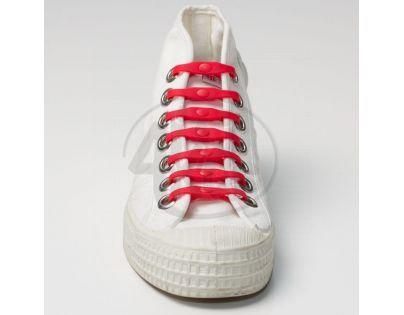 Shoeps Silikonové tkaničky Red
