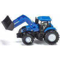 Siku 1355 Traktor New Holland s předním nakladačem