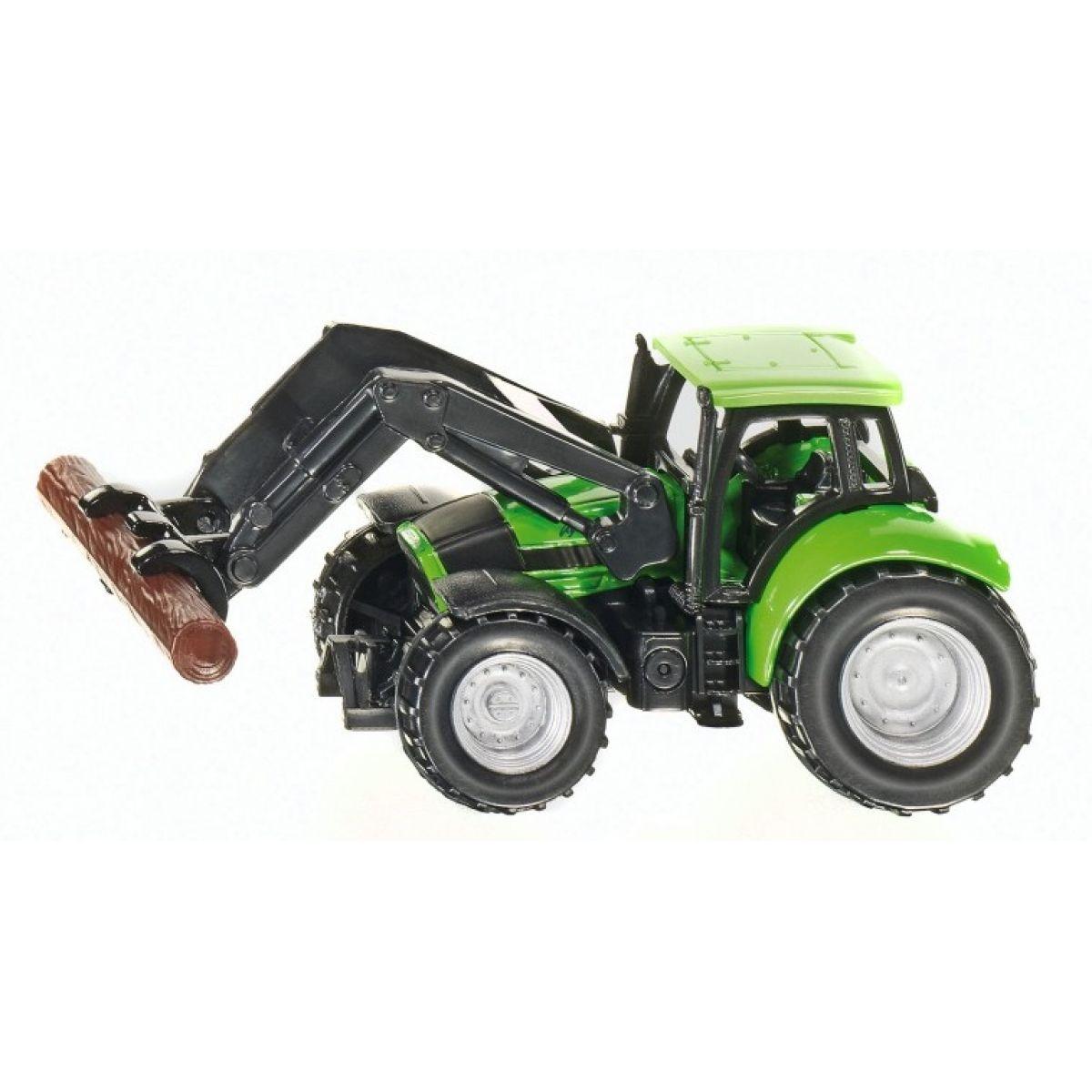 Siku Traktor s drapákem na klády 1:87 SIKU