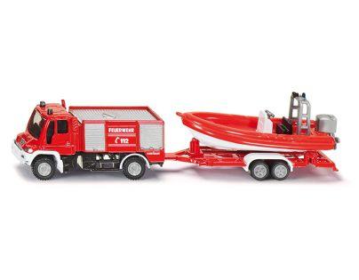 Siku 1636 Požární vozidlo Unimog s člunem