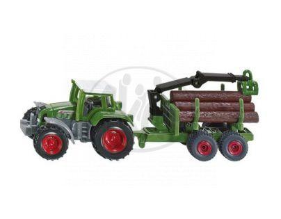 SIKU 1645 - Blister - Traktor s přívěsem na kulatinu