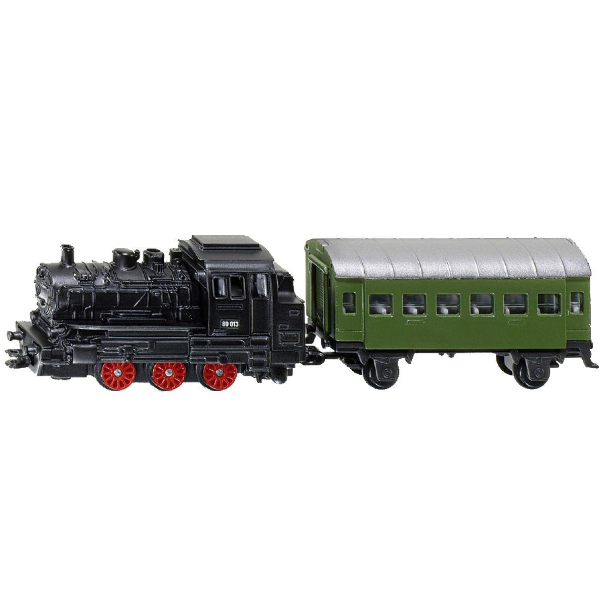 SIKU 1657- Blister - Parní lokomotiva s osobním vagónem