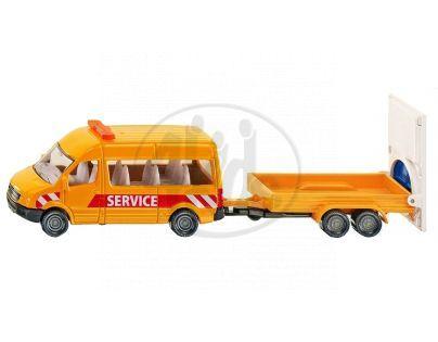 SIKU 1660 - Blister - Trasportér s přívěsem k náhlým dopravním uzavírkám