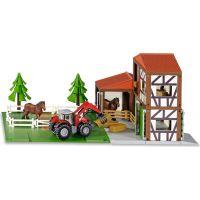 Siku 5609 Stáj s koňmi a traktorem