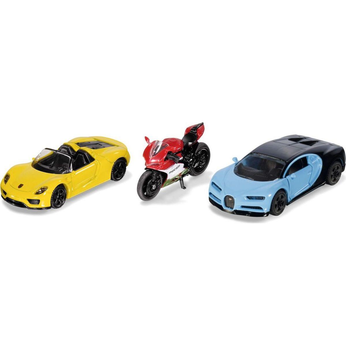 Dárkový set sportovní auta a motocykl 1:55