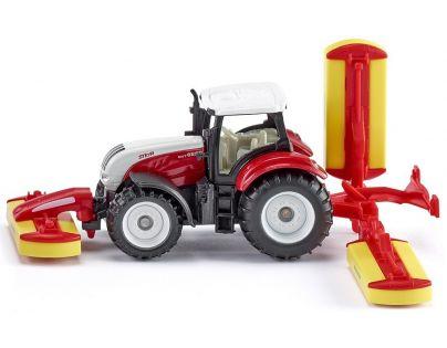 Siku 1672 Traktor Steyr se sekacími nástavci