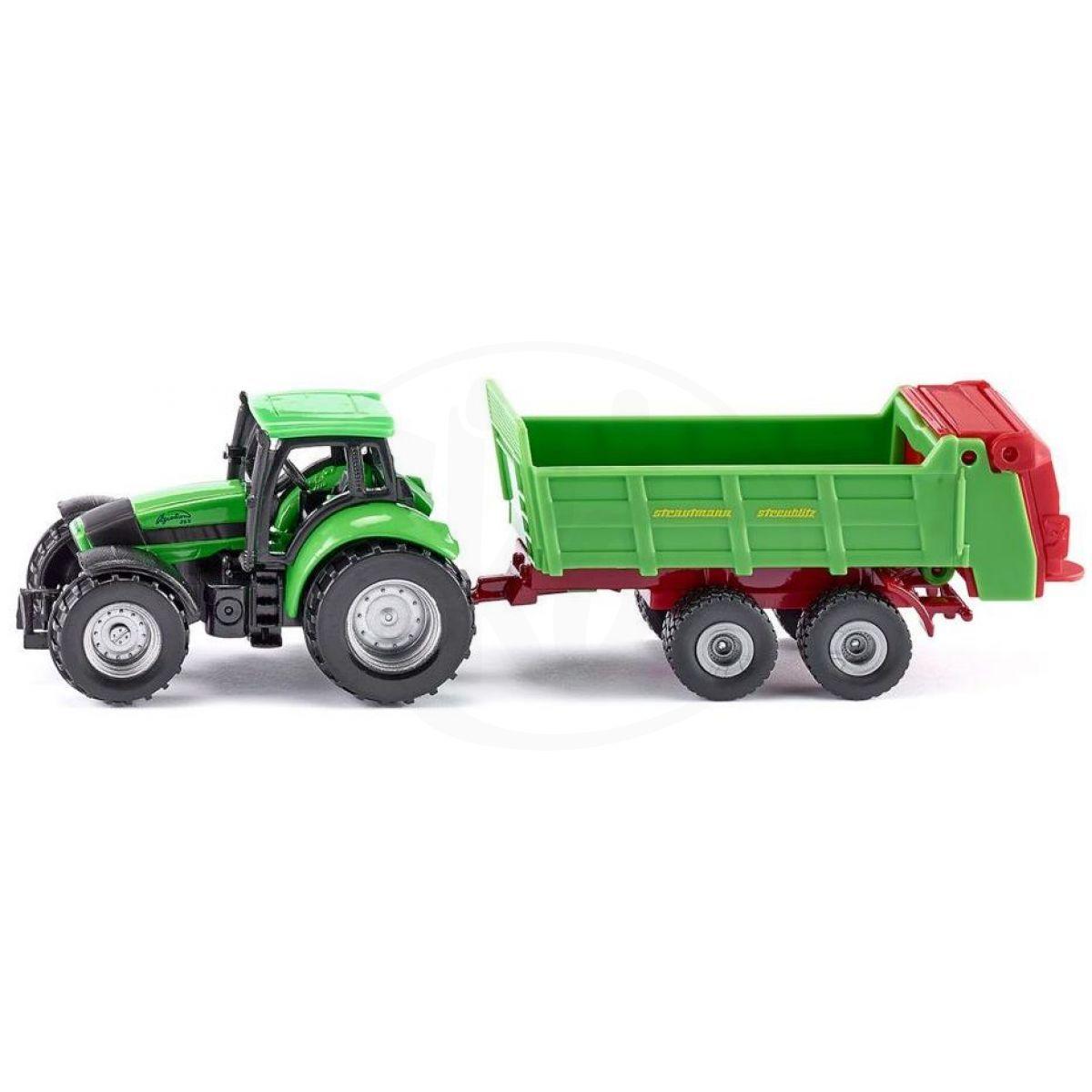 Traktor Deutz s rozmetadlem hnoje SIKU 1:87