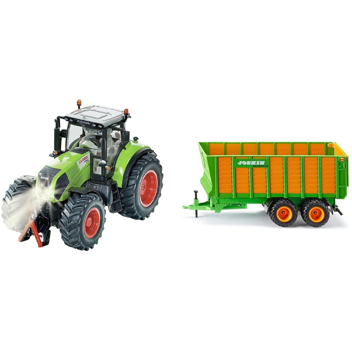 SIKU Control limitovaná edice traktor Claas Axion silážní vůz Joskin 1:32