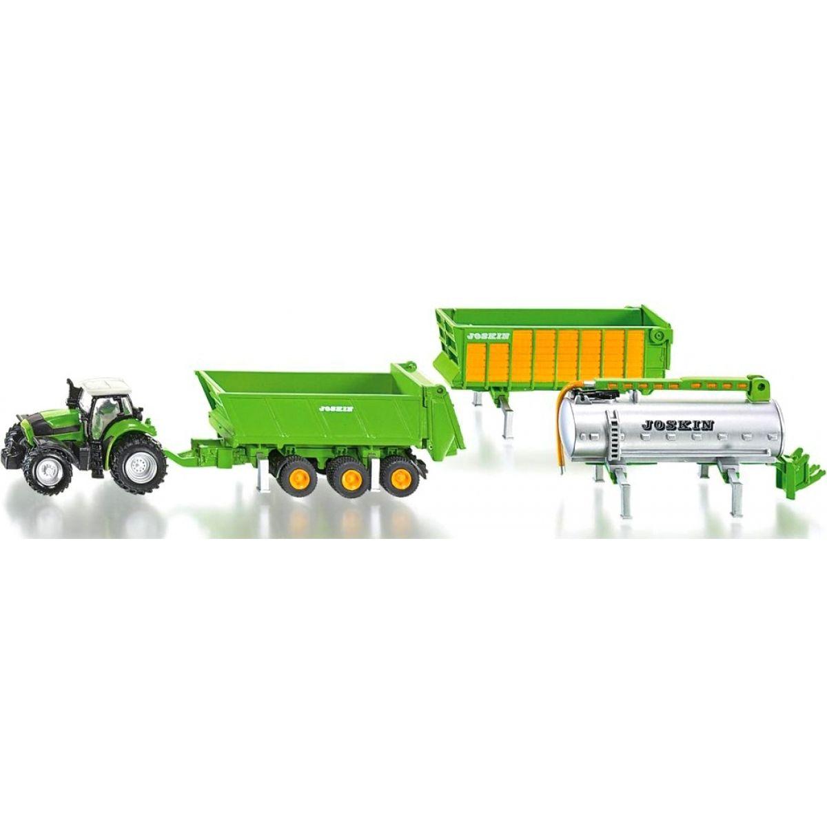 Joskin Traktor Deutz se sadou přívěsů 1:87 SIKU