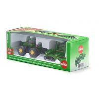Siku Farmer Traktor John Deere 9630 s bránami Amazone Centaur 1:87 2
