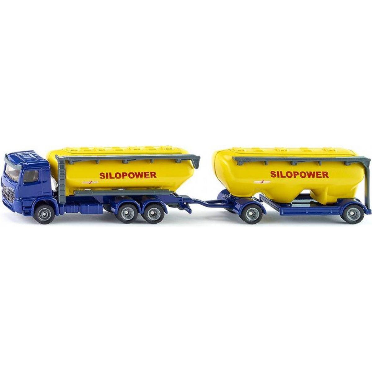 Siku Farmer kamion s přívěsem pro krmivo 1:87