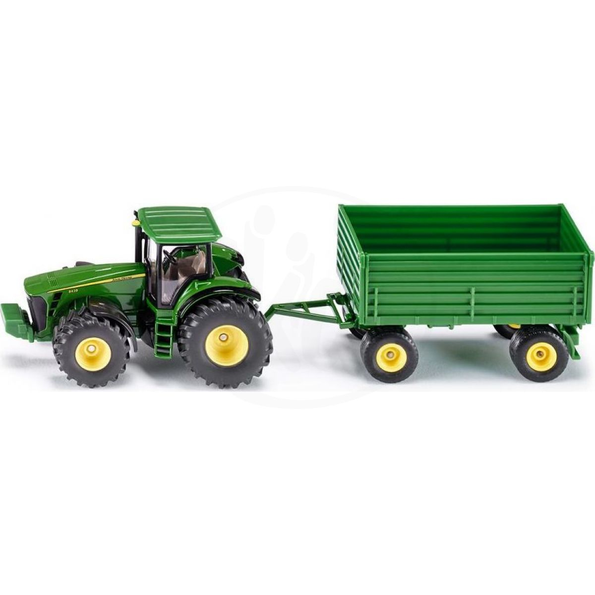 siku farmer 1953 traktor john deere s vlekem 1 50 4kids. Black Bedroom Furniture Sets. Home Design Ideas
