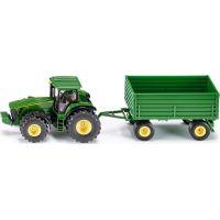 Siku Farmer Traktor John Deere s vlekem 1:50 zelený