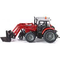 Siku Farmer Traktor Massey Ferguson s čelním vidlicovým nakladačem 1:32