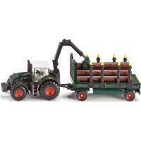 Siku Farmer Traktor s lesním přívěsem 1:87