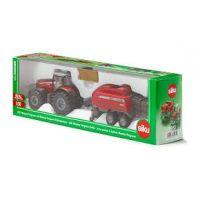 Siku Farmer Traktor Massey Ferguson s vlekem na tvoření balíků 1:50 2