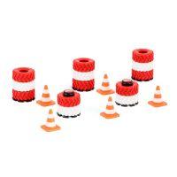Siku Racing překážky pro silniční provoz, kužely, pneumatiky ve sloupcích