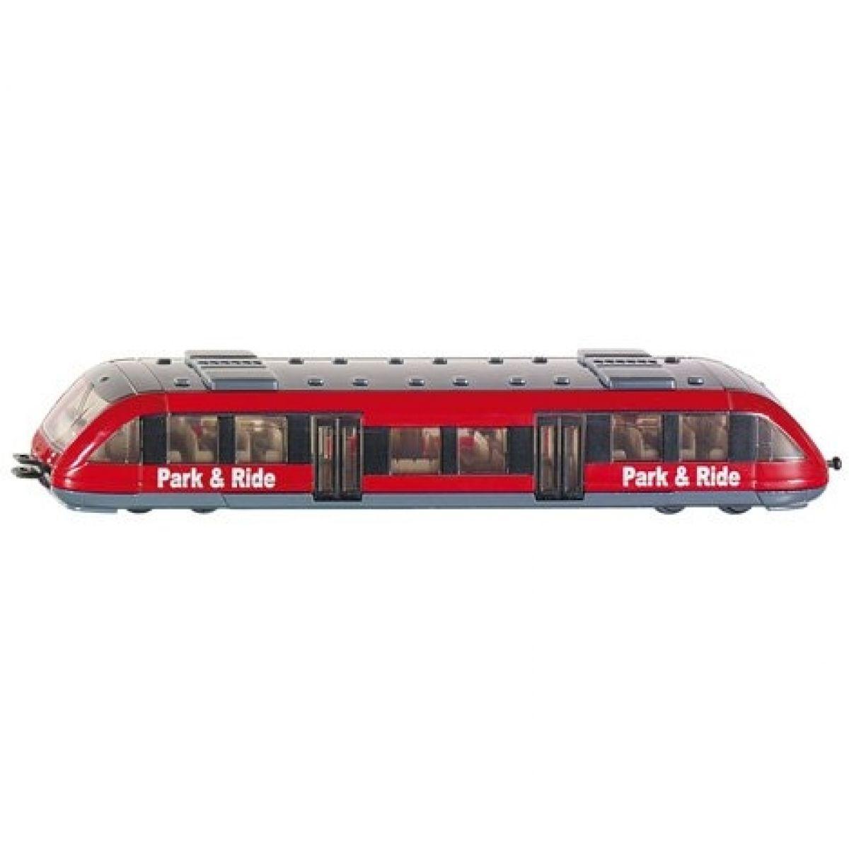 Příměstský vlak S Bahn model Siku 1646 1:120 - Červená