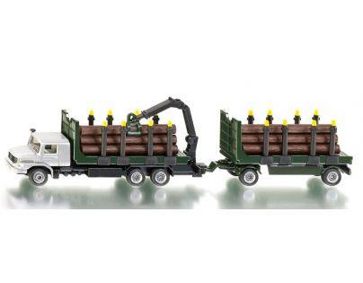 Siku 1804 Super Kamion s vlekem pro přepravu kmenů 1:87