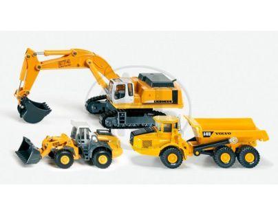 SIKU Super 1810 - Sada stavebních strojů Liebherr a Volvo