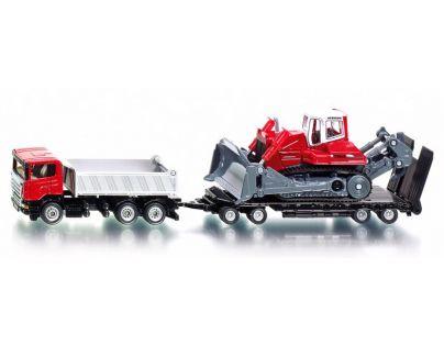 Siku 1854 Super Náklaďák Scania s přívěsem a buldozerem Liebherr PR 764 1:87