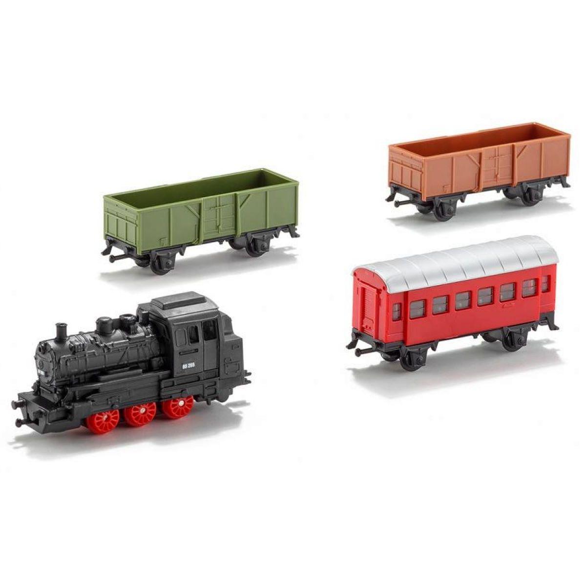 SIKU Super - Sada vlak + 3 vagóny