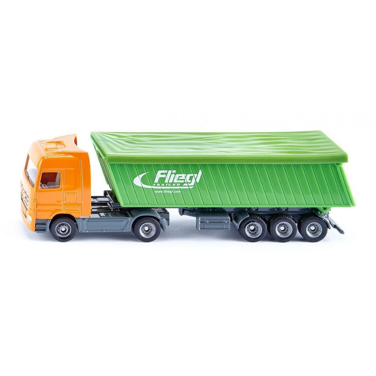 SIKU Kamion auto nákladní s vlekem model kov 1796 98104 1:87