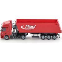 Siku Super Kamion s vyklápěcím vlekem červený 1:50