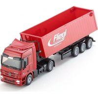 Siku Super Kamion s vyklápěcím vlekem červený 1:50 2