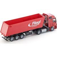 Siku Super  3537 Kamion s vyklápěcím vlekem červený 1:87 4