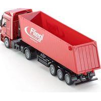 Siku Super  3537 Kamion s vyklápěcím vlekem červený 1:87 5