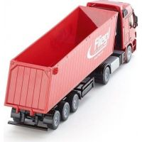Siku Super Kamion s vyklápěcím vlekem červený 1:50 6