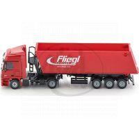 Siku Super  3537 Kamion s vyklápěcím vlekem červený 1:87