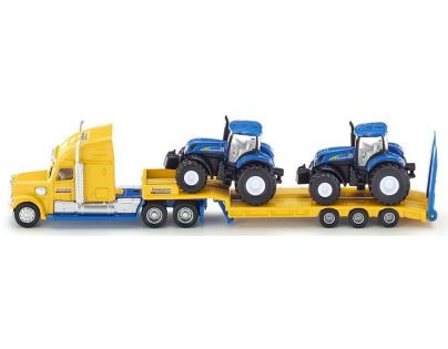 Siku Super Tahač s vlekem a 2 traktory New Holland 1:87