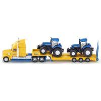 Siku Farmer Tahač s vlekem a 2 traktory New Holland 1:87