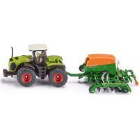 Siku Traktor se secím přívěsem 1:87