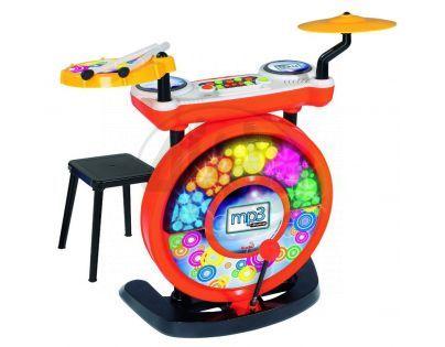Simba S 6831198 - Elektronické bubny se stoličkou, vstup pro MP3