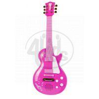 Simba Elektronická kytara růžová