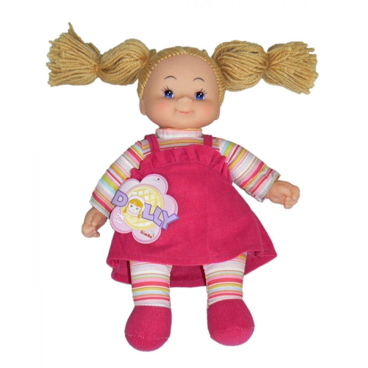 Simba Látková panenka Cheeky 38cm - Vlasy hnědé - nezapletené