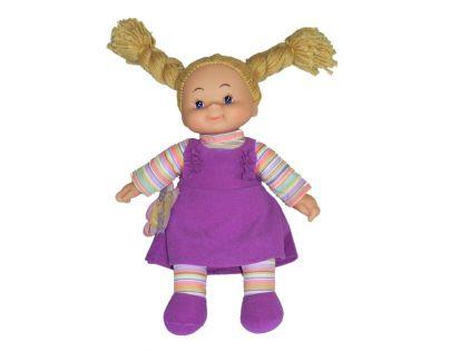 Simba Látková panenka Cheeky 38cm - Vlasy hnědé - zapletené