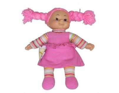 Simba Látková panenka Cheeky 38cm - Vlasy růžové - zapletené